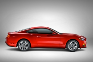 2015 Ford Mustang in red