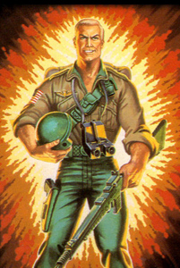 Duke from G.I. Joe action figure illustration